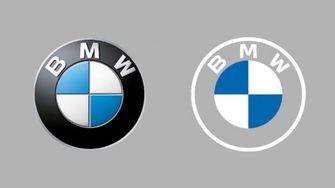 bmw, nieuw logo, minimalistisch, transparant