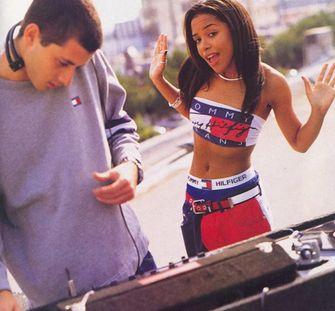 hiphop, jaren 90, 90sm tommy hilfiger