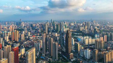 wuhan, foto, 360, inzoomen, gigapixel, foto, china, skyline