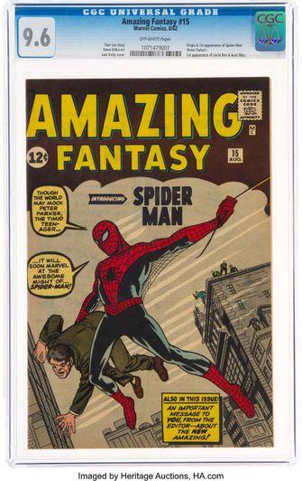 Duurste comic ooit: debuut Spider-Man levert miljoenen op