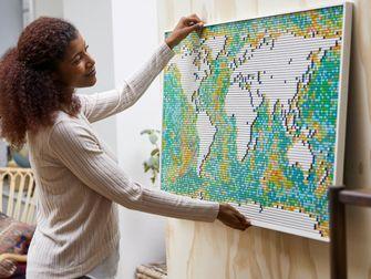 wereldkaart, lego, sets, interieur