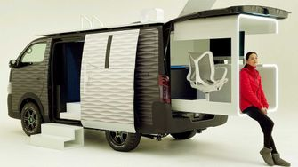 nissan office pod, camper, thuiswerken