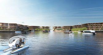 oceanix city, big, drijvende stad, toekomst