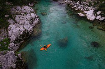 kajakken, Slovenië, vakantie, code groen
