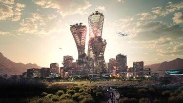 telosa, nieuwe duurzame stad, woestijn, architectuur, nevada, idoha, big, bjarke ingels, skyline