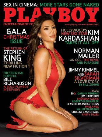 kim kardashian, playboy, beroemdheden, sexy, kerstnummer