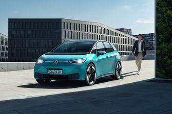 Volkswagen, ID.3, Elektrische, Auto, Van, Het, Jaar