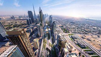 Sheikh Zayed Road, groene supersnelweg, snelweg, dubai, world architectur festival, x-space