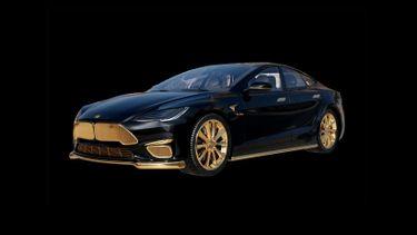 Tesla Model S Plaid Caviar, 24-karaats gouden
