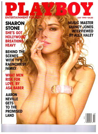 sharon stone, playboy, beroemdheden, nude, naakt