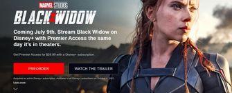 Black Widow Marvel gratis Disney+