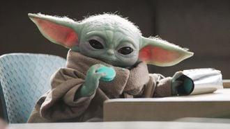Seizoen 3 The Mandalorian Baby Yoda Grogu Jedi