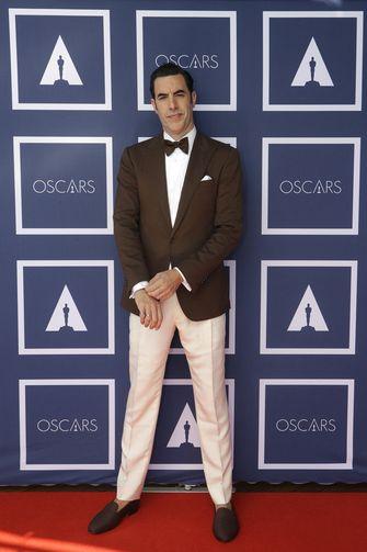 Sacha Baron Cohen, oscars 2021, best geklede mannen, best geklede vrouwen, rode loper