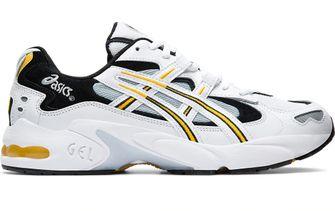 gele sneakers, asics, 2020, trend