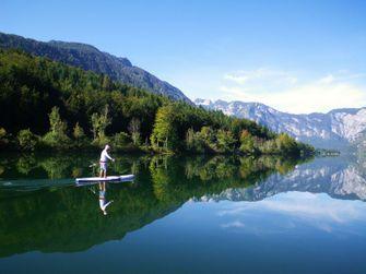 actieve vakantie, Slovenië, suppen, Bohinj