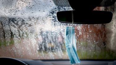 Mondkapje auto achteruitkijkspiegel binnenspiegel
