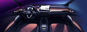 interieur, volkswagen id.4, elektrische auto, suv
