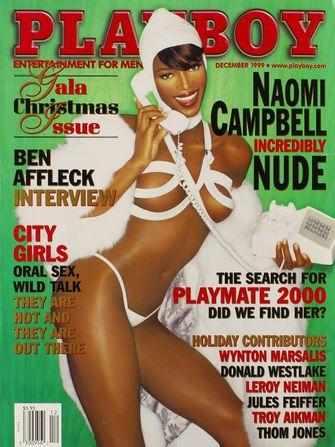 naomi campbell, playboy cover