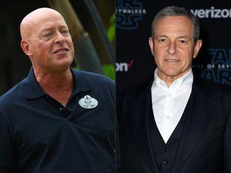 Bob Chapek (links) en Bob Iger Disney