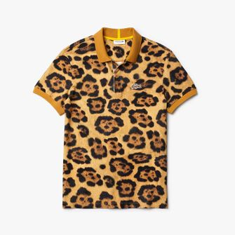 lacoste x national geographic, polo, dierenprint