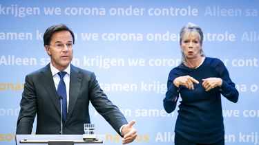 Mark Rutte persconferentie Irma gebarentolk