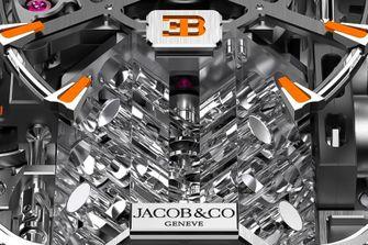 Jacob & Co. Bugatti Chiron Tourbillon Baguette Black and Orange, horloge, 3