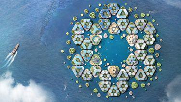 drijvende stad, zeespiegel, oceanix city, big