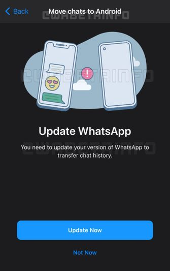 WhatsApp ioS Android chat migratie