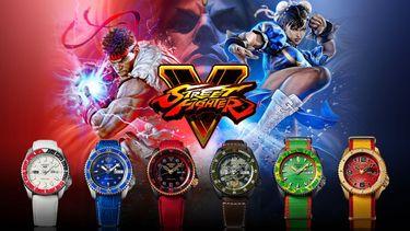 seiko 5 sports, street fighter V, horloge, pack, karakters