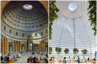 pantheon rome, apple store, singapore