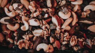 gezonde snacks, afvallen, noten