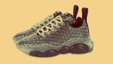 moschino, sneakers, bubbeltjesplastic, noppenfolie