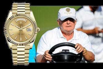 donald trump, favoriete horloges, rolex day date, presient