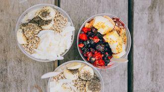 kwark op smaak maken, fruit