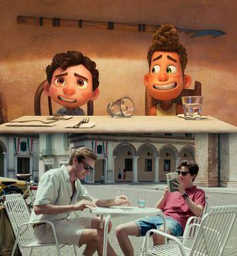 call me by your name, luca, pixar, gelijkenissen, overeenkomsten, film