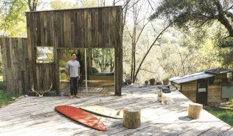 surf shacks, surfers, architectuur, woningen