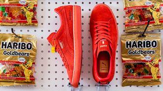haribo x puma suedes, sneakers, gummy bears, gummibeertjes, schoenen