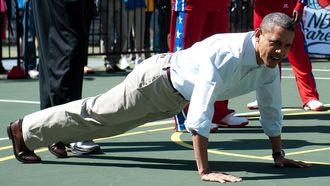 barack obama, push-ups, opdrukken, ademen, fout, ademhaling