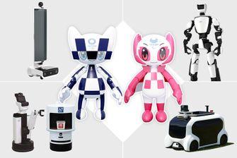 robots, olympische spelen, tokyo 2020, 2021