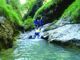 canyoning, Slovenië, paradijs, actieve vakantiegangers