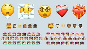 nieuwe emoji, hart, verwarring, uitputting, chaos, diversiteit