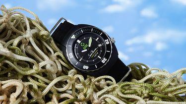 betaalbaar, horloge, gyre seacleaner, gerecyclede visnetten
