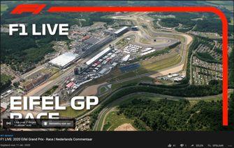 formule 1, gratis kijken, gp van eifel 2020, youtube, f1, nurburgring, live, max verstappen